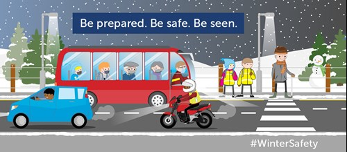 Winter Road Safety - Crossing safely